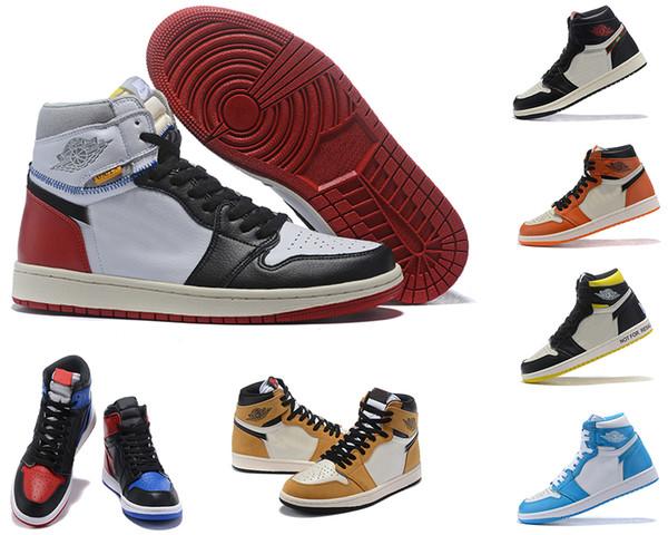Самый новый выпуск 1 High OG NRG Нет L'S Pack Горячая продажа 861428-106 1S Парус Black-Varsity Red Toes наружная повседневная обувь размер7 ~ 12