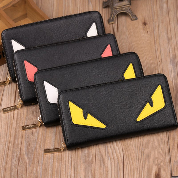 wholesale little monster wallets pu leather fashion cross-wallet designer credit card cellphone purses 3 colors sale (421285685) photo