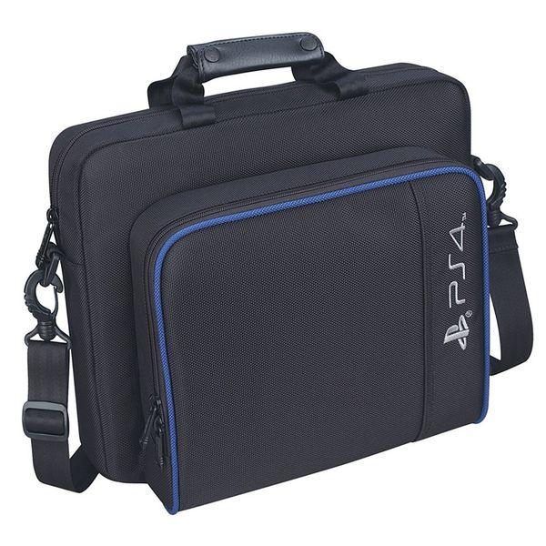 PS4 Тонкий игровой мешок Sytem Canvas Case Защитить плечо Сумка для переноски Сумка Оригинальный размер для PlayStation 4 PS4 Pro Console