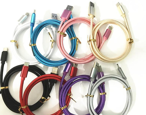 High peed 1m 2m 3m 6ft 10ft metal hou ing braided micro u b cable durable tinning charging u b type c cable for 8 9 android mart phone