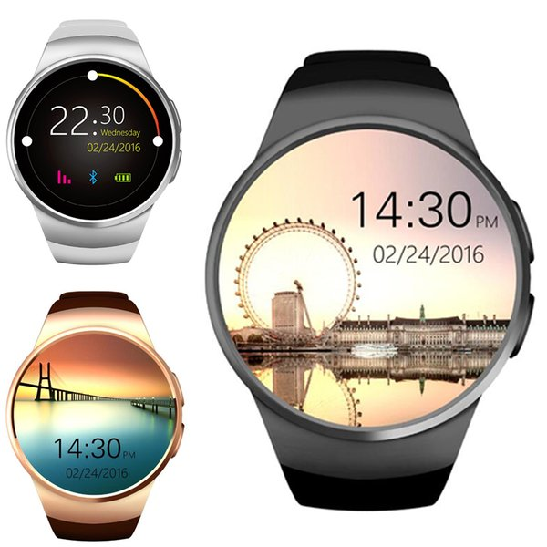 Kw18 bluetooth  mart watch phone full  creen ip   upport  im tf card  martwatch heart rate for io  android