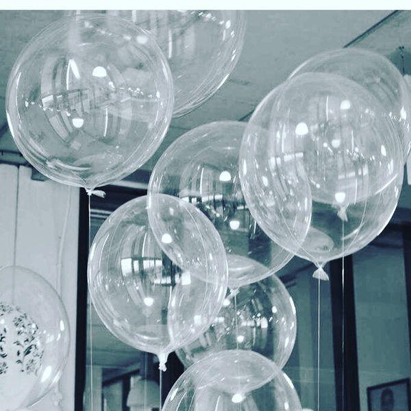 50 шт. Без морщин прозрачные шары из ПВХ 10/18/24 дюймов прозрачный пузырь гелий Globos св фото