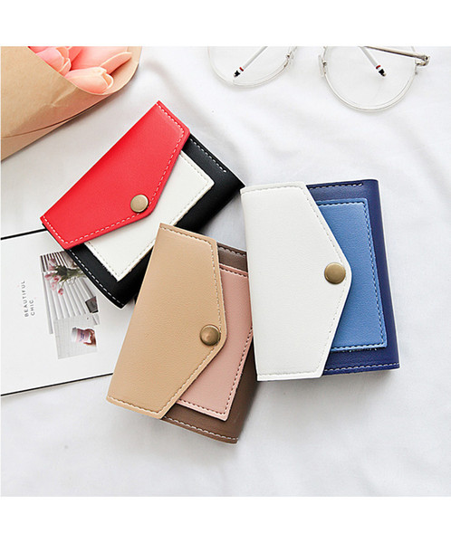kalunma wallet female short style small fresh student mini coin purse 2018 new cute contrast color wallet purse for girl (424496289) photo