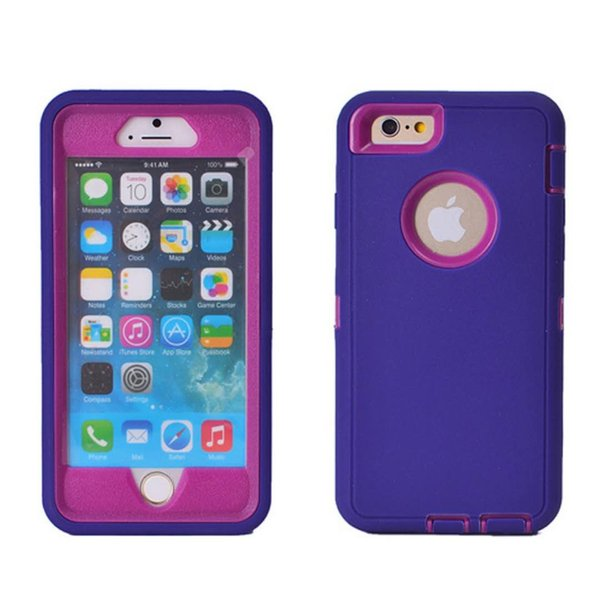 2018 premium quality for iphone 7 plu  ca e  hockproof phone ca e  ilicone   pc hydrid 2in1 for iphone robot ca e