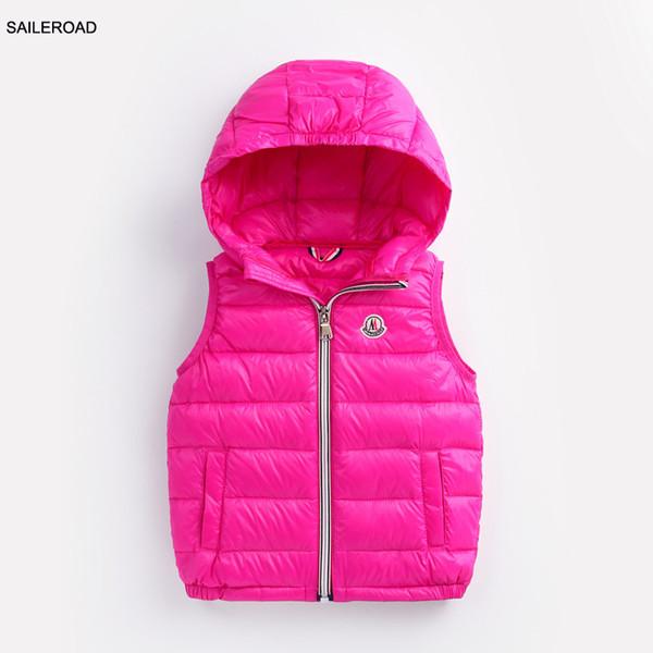 SAILEROAD 2-7years топы дети дети мальчики жилет пальто зима девочки мальчики верхняя оде фото
