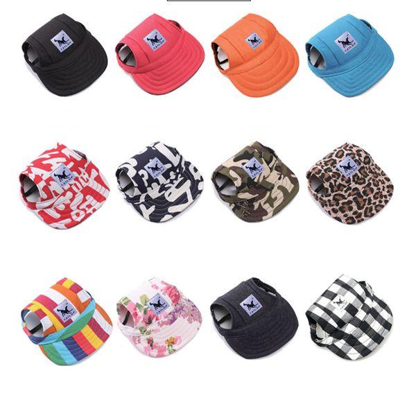 Pet dog cap canva hat port ba eball cap with ear hole ummer outdoor hiking vi or hat puppy pet upplie 12 de ign