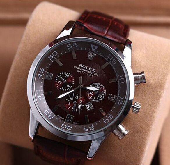 Мужчины часы новые поступления Марка кварцевые часы роскошные повседневные чело фото