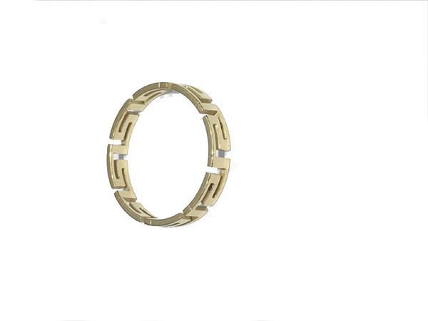 простой узор форма гладкая в Золотое кольцо размер 7/8/9/10/11 кольца из нержавеющей стали для женщин