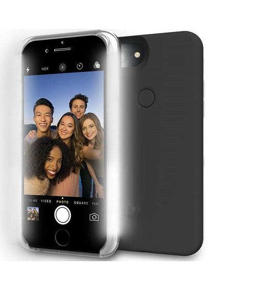 Светодиодные светящиеся чехлы для телефонов iPhone X XS XR 6S 7 Plus Iphone8 / 8Plus чехол для Samsung S8 S9 Edge Plus чехол