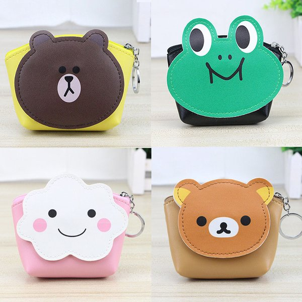 50pcs / lot girl cartoon animal cute coin purse casual coin wallet kid cute pu purse portable bag wholesale (431051098) photo