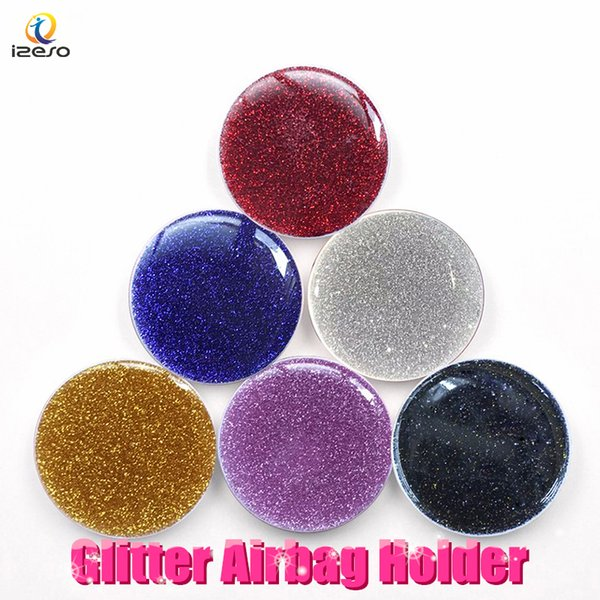 For iphone x  max finger holder  univer al 360 degree glitter expanding phone grip round ring holder bracket  tand for  am ung note9 lg moto