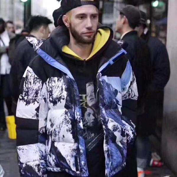 17fw thenf x box logo mountain baltoro jacket down jacket coat couple winter outerwear fa hion men women hfl yrf031