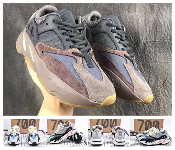 2018 2019 новый с коробкой 700 волна Бегун лиловый EE9614 B75571 кроссовки Мужчины Женщины шить цвет высокое качество Легкая атлетика кроссовки США 5-11