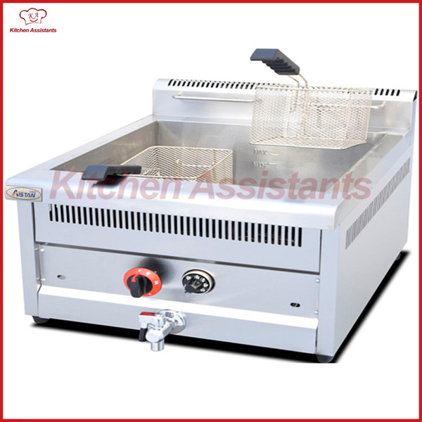 Gf73a ga temperature controlled fryer with temperature control 1 tank 2 ba ket