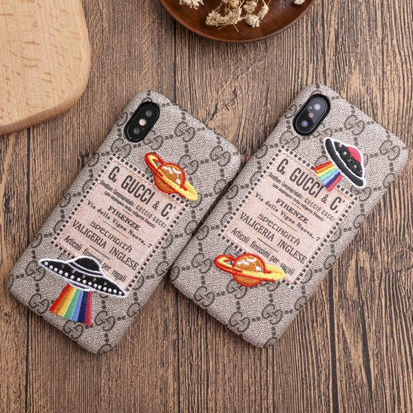 Fa hion phone ca e for iphonex x  iphonex max 7p 8p 7 8 6 6 p 6 6  fa hion creative per onality back cover with embroidery ufo planet