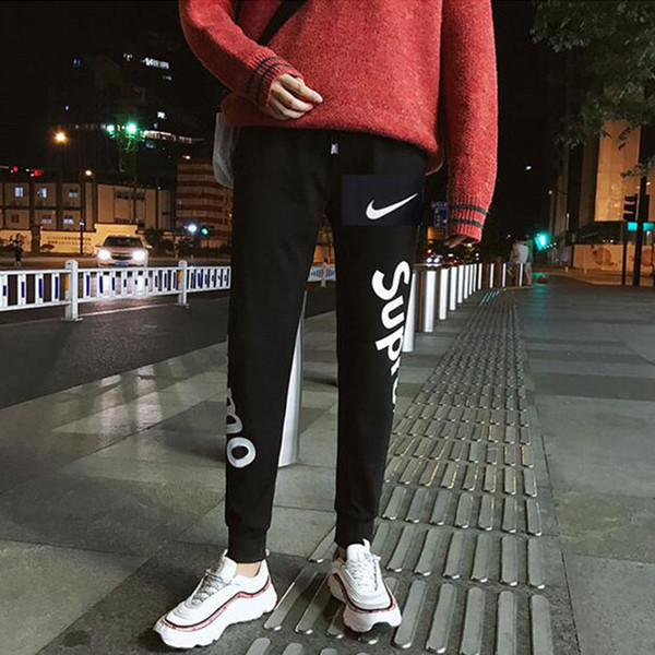 Мода Письмо печати jogger брюки для мужчин прилив хип-хоп уличная одежда мужские диз