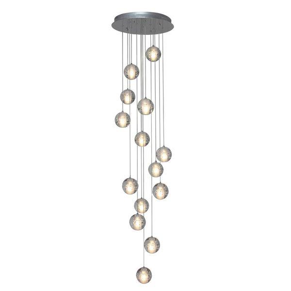 26 ламп Горячая современная хрустальная люстра / прозрачная стеклянная шариковая