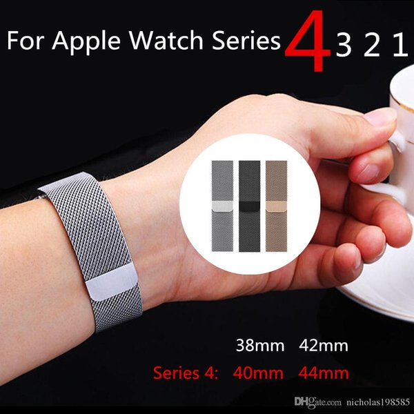 Replacement watchband milane e loop band for apple watch  erie  4 magnetic  tainle    teel  trap bracelet 40mm 44mm for iwatch acce  orie