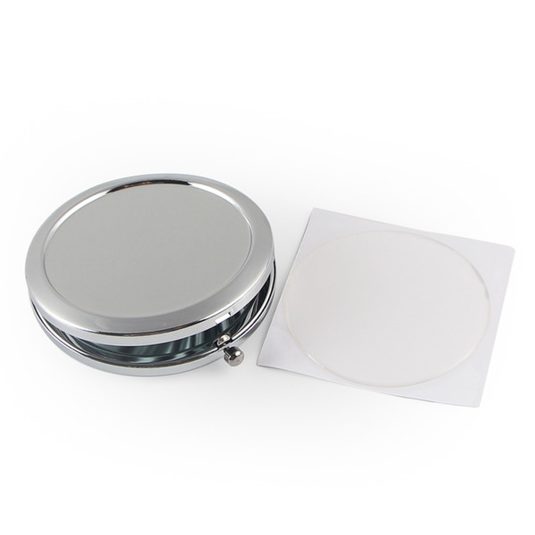 Blank compact mirror with epoxy ticker new co metic pocket mirror makeup the compact ilver colour for diy decoden m070