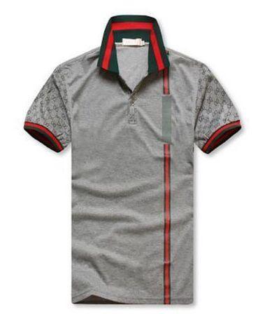 Горячая распродажа новые вышивки поло футболки для мужчин мода рубашка поло мужс фото