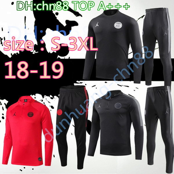 Size 3xl 2018 2019 mbappe pari jordam jacket track uit 18 19 xxl p g champion league cavani football jacket pari training uit jacket