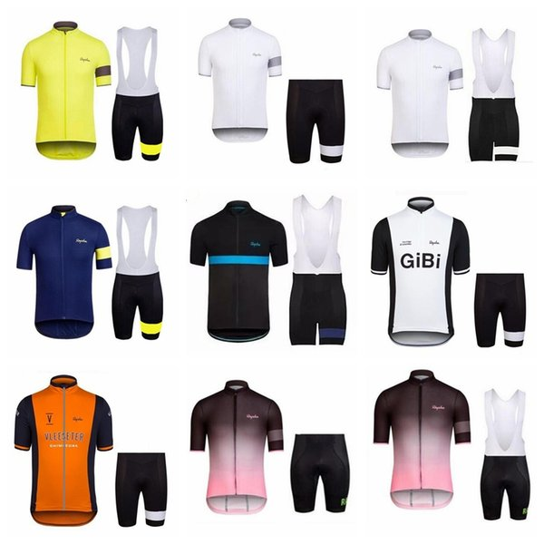 RAPHA Cycling Jersey Set 2018 Summer Short Sleeve Breathable Maillot Ropa Ciclismo MTB Bicycle Sportswear mountain Bike Clothing D1101