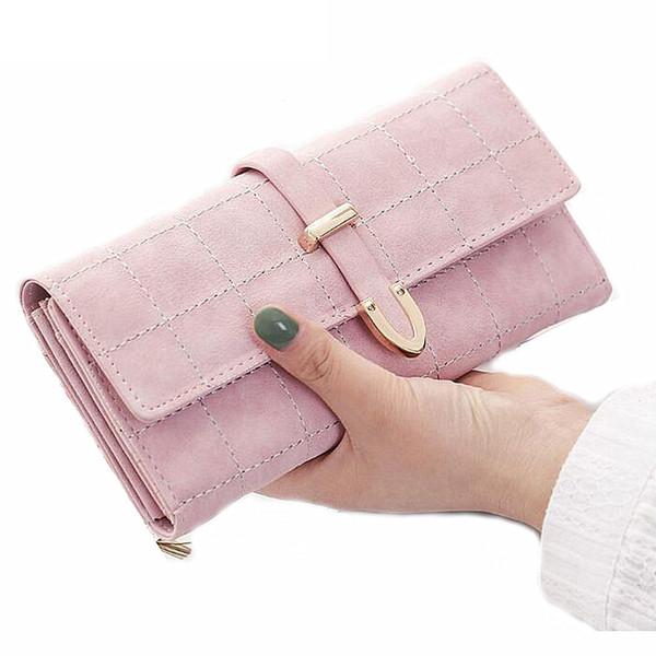 women wallet female coin purse fashion long clutch hasp closure lady purse drawstring nubuck pu leather purse  holder (421968683) photo