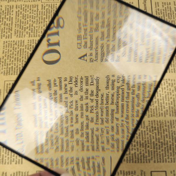 Тонкая лупа для чтения больших карточек Визитная карточка увеличительное стекло фото