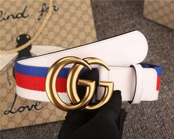 high quality Brand designer genuine leather belt luxury strap male belts for men women new fashion style buckle with box