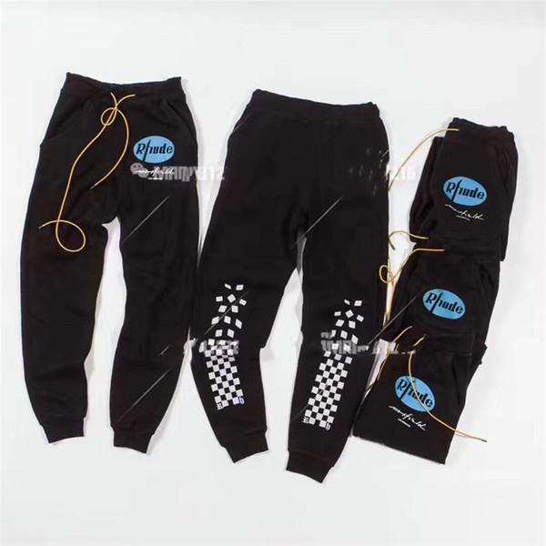 RHUDE тренировочные брюки женщины мужчины высокое качество riri молния мода хип-хоп Л