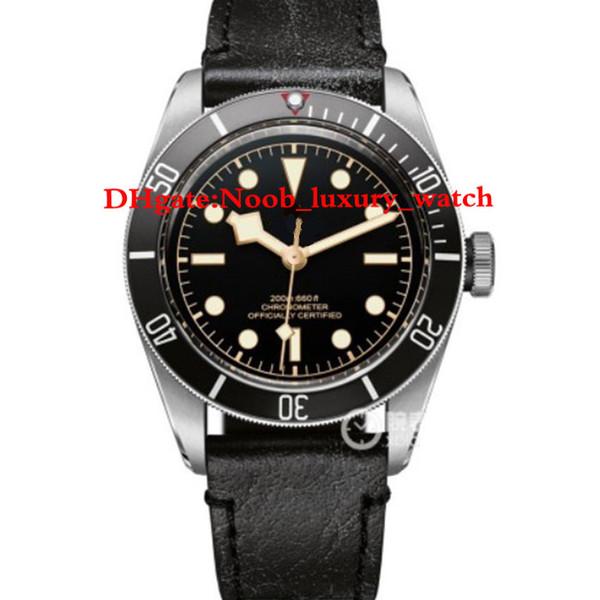 роскошные часы 41 мм ААА класса люкс мужские часы черный залив m79230 автоматические часы кожаный браслет часы мужские наручные часы Наручные часы