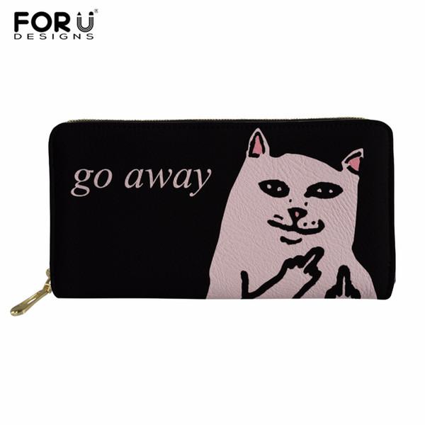 forudesigns go away cat women long wallet female zipper classic women purse large capacity money purse fashion phone clutch (424495303) photo