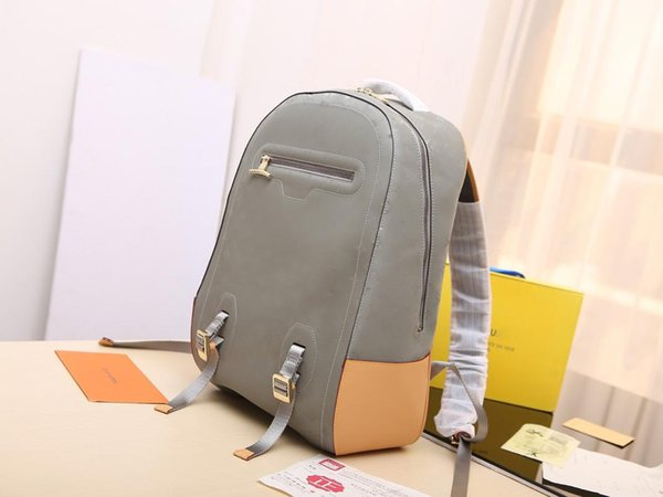 Дизайнерские модные рюкзаки для мужчин из натуральной кожи Рюкзаки 31-46-26см сумки фото