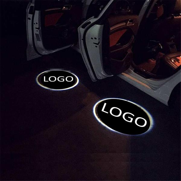 2шт чехол для VW для шевроле светодиодный логотип двери приветственный свет вежливость светодиодный автомобиль лазерный проектор логотип призрак тень фото