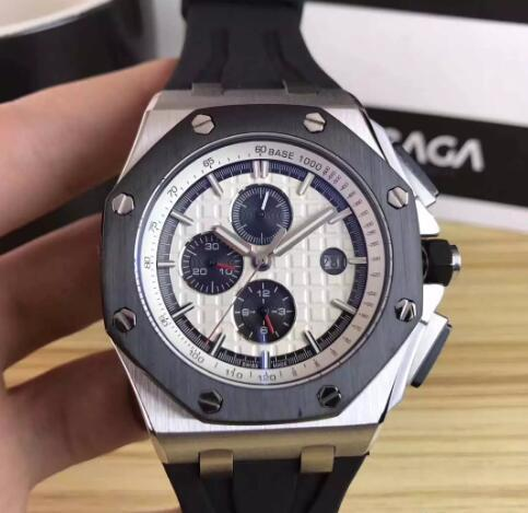 Luxury Royal Brand Offshore 26401RO Gold Black Stainless Steels Automatic Mechanical Rubber Strap Sport Men Mens Watch Watches