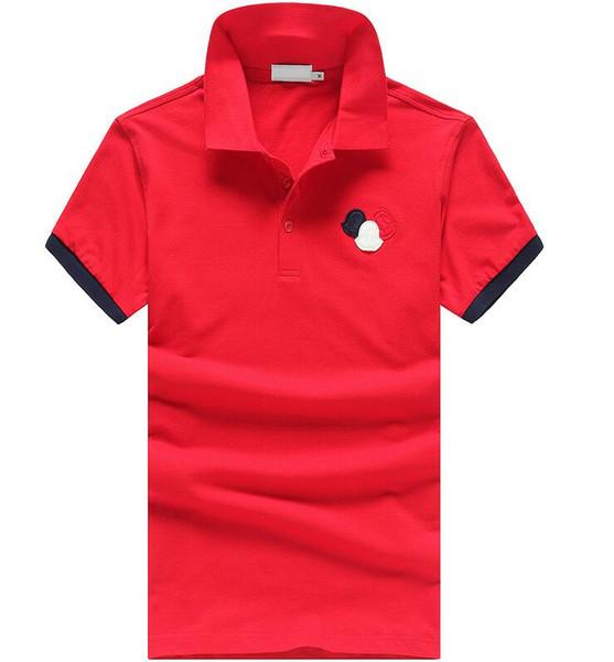 Топ человек мода отворотом Поло повседневная футболка лето унисекс с коротким ру