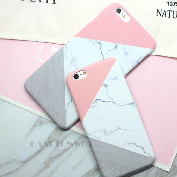 E83 роскошные классические геометрические мраморная мозаика чехол мобильный телефон защитный пластиковый жесткий чехол для Apple iPhone 5 5S SE 6 6 S 7 8 фото