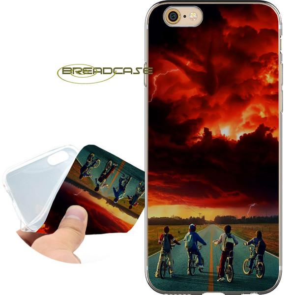 Чужие вещи Red Glow Прозрачные мягкие TPU силиконовые чехлы Coque для iPhone 10 X 7 8 6S 6 Plus 5S 5 SE 5