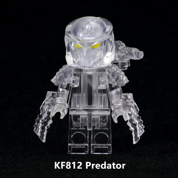 Building blocks, transparent Iron Blood Warriors, Battle for Special-shaped Predators to assemble Boys' bags