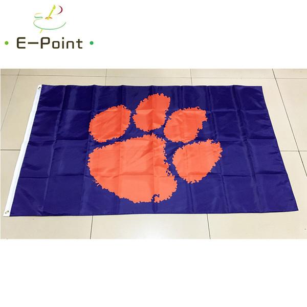 NCAA Clemson Tigers Team полиэстер Флаг 3ft * 5ft (150cm * 90cm) Флаг Баннер украшения летающий дом сад фото