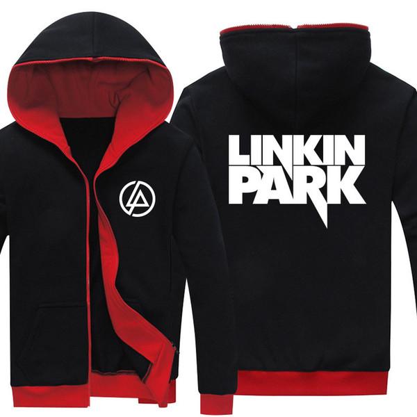 Падение доставка Весна Antumn Linkin Park печатных Моды Мужские толстовки мужская куртка
