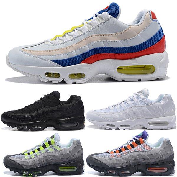 95 TT Running Shoes For Men Women 95s SE Triple Black White OG Neon Grape Designer Sport Trainer Sneaker Size 36-46 Free Shipping