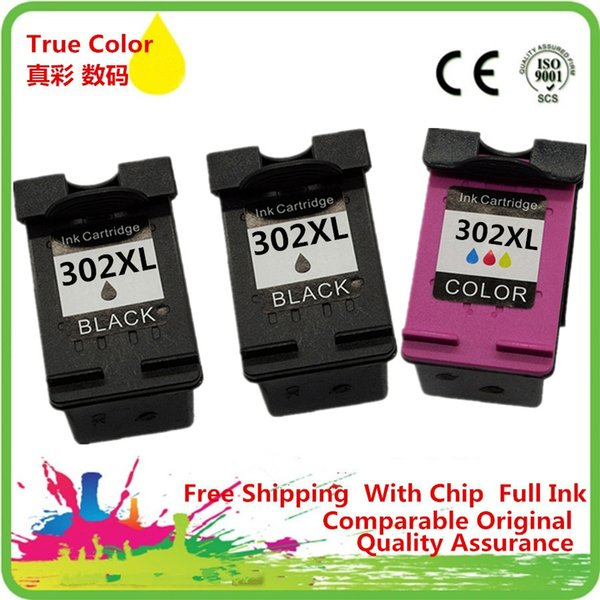 1 комплект + 1 картридж с черными чернилами Восстановленное для 302 XL HP302 HP302XL 302XL Deskjet