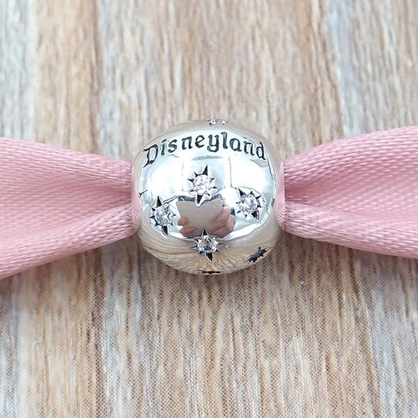 Аутентичные 925 серебро бусы «Disnyland Resort»»Шарм Подходит Европейский Pandora Стиль ювел фото