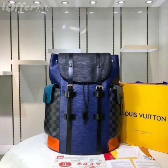 Кристофер PM M51458 M51457 мужчины рюкзак кошелек сумка синий мода новый рюкзак вещевой
