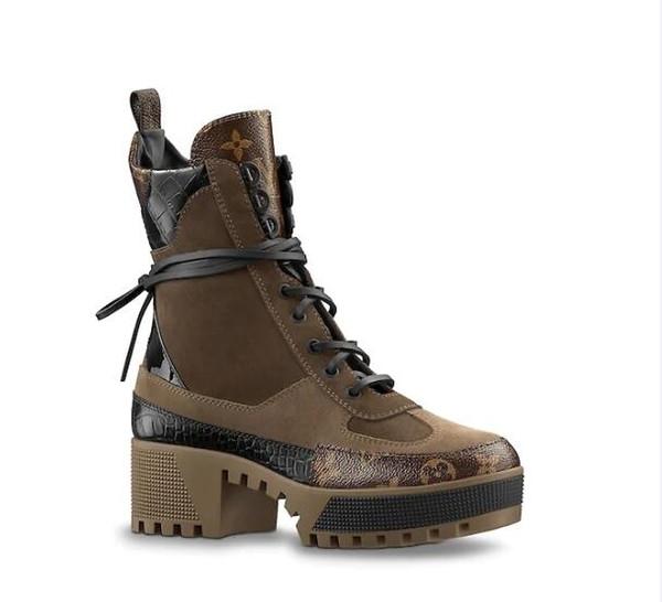 Laureate Platform Desert Boot 1A41Qd 1A43Lp Black Heart Boots Overcloud Platform Desert Boot Luxury Brand Martin Boots 0L0V016 Бесплатная доставка