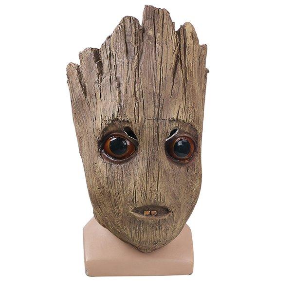 2017 Фильм Стражи Галактики 2 Cos маски косплей Грут Маска латекс шлем Хэллоуин проп