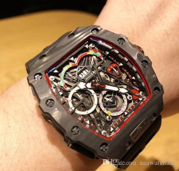 Завод поставщик Новый Человек автоматические часы черный резиновый ремешок меха