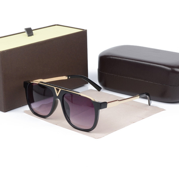 The late t  elling popular fa hion men luxur de igner  ungla  e  0937  quare plated metal combination frame with boxe
