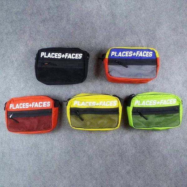 Новые места + лица 3 м светоотражающие скейтборды сумка P + F сообщение сумки случайные мужчины и женщины хип-хоп сумка мини мобильный телефон пакеты